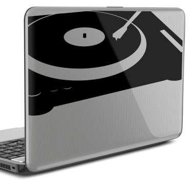 Sticker PC portable tourne-disque