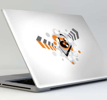 Sticker voor Laptop Dj draaitafel