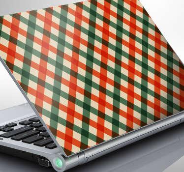 Laptopaufkleber Karomuster