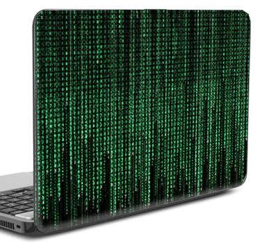 매트릭스 패턴 노트북 스티커