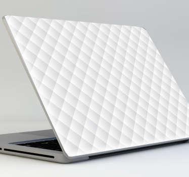 Sticker effet matelassé blanc PC portable