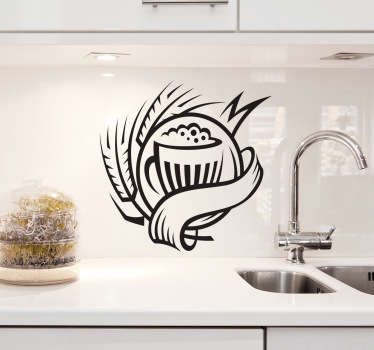 Kitchen Stickers - Emblem design of a pitcher of beer. Decorate your kitchen appliances, walls and cupboards.Decals great for styling your home.