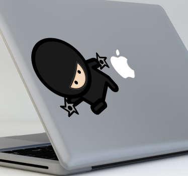 Naklejka na laptop ninja z gwiazdami