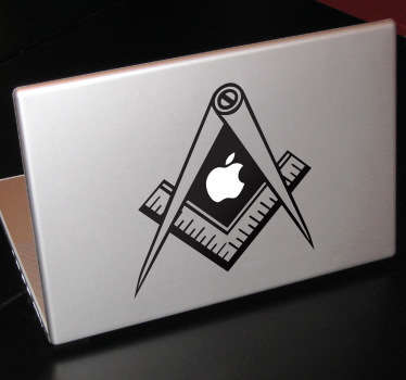 A design inspired by the Freemasonry symbol. A sticker from our collection of MacBook stickers to decorate your Apple device.