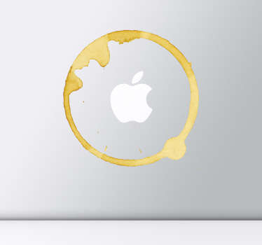 Apple Mac koffie vlek sticker