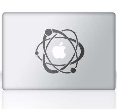 наклейки для ноутбуков с атомами и электронами