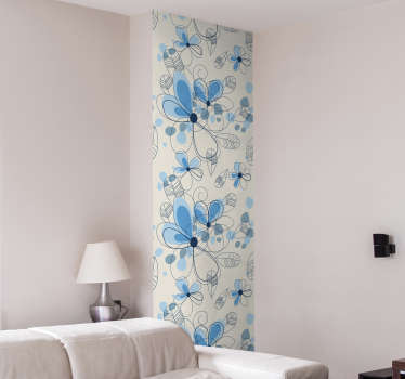 Floral Pattern Vinyl Sheet Sticker