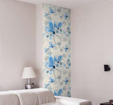 Revêtement adhésif fleurs bleues