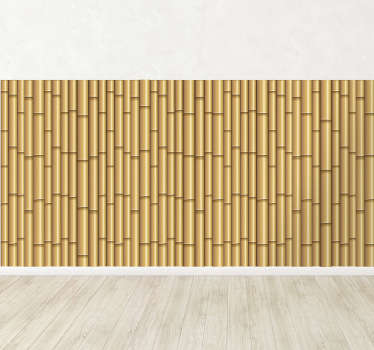 Vinyl Stickers - Bamboo fence illusion. Great for decorating any room.