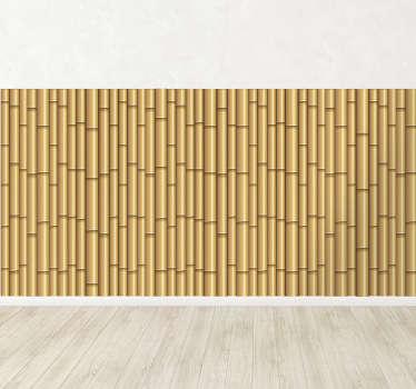 Friso decorativo canas de bambú