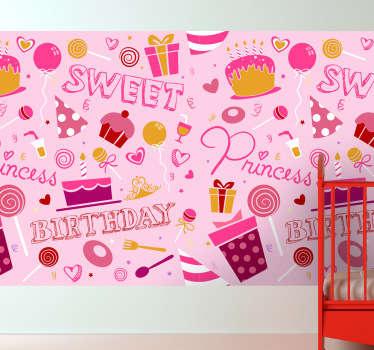 Pellicola adesiva compleanno bimba