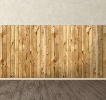 Light wooden slate sticker