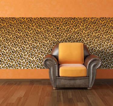 Autocolante decorativo padrão leopardo