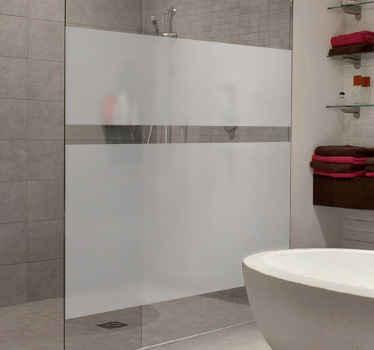 Naklejki na prysznic prześwitujące
