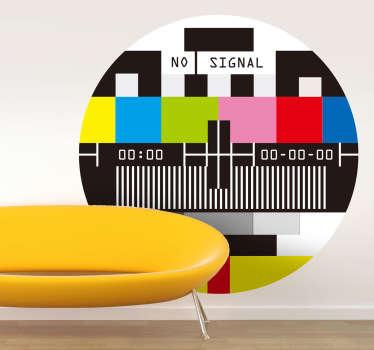 Ingen signal tv klistermærke