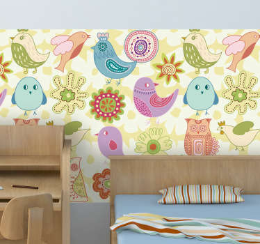 Kids Birds Vinyl Sheet