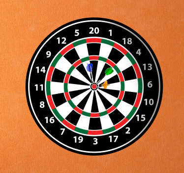 Darts Board wall Sticker