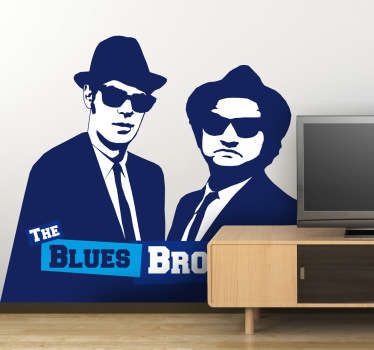 Sticker mural the blues brothers