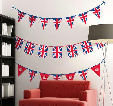 Vinilo decorativo banderines británicos