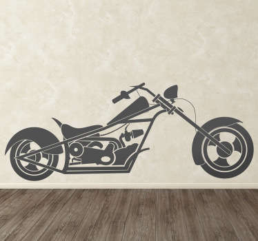 Do you love motorcycles? And you empty walls at home? Decorate your home with this great chopper bike wall sticker.