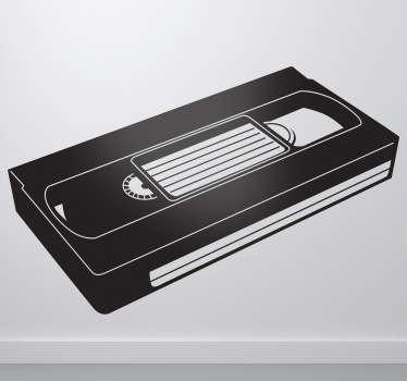 Sticker décoratif VHS