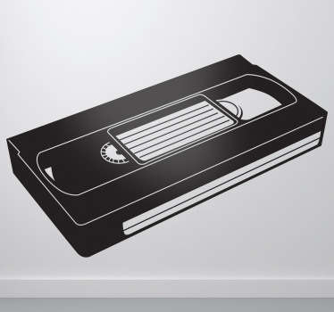 Sticker VHS videocassette
