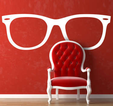 Decorative sticker with the shape of the Ray Ban sunglasses which is ideal to give an intellectual look to your room or house!