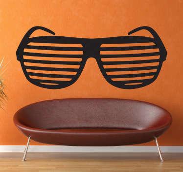 80s Slot Glasses Decorative Sticker