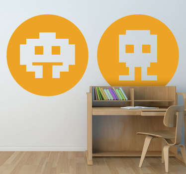 Sticker decorativo icone Space Invaders