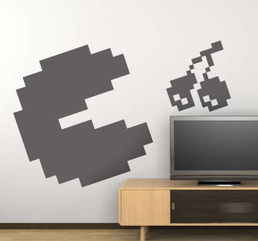 Wandtattoo Pixel Pacman