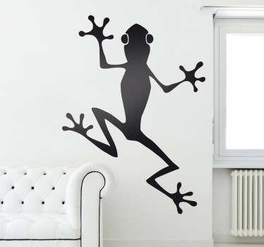 Kletternder Frosch Aufkleber