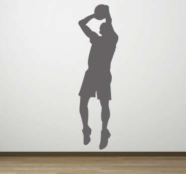 Sticker silhouette basketteur