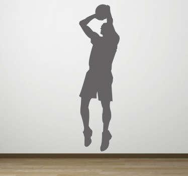 Adesivo murale silhouette tiro libero