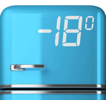 Freezer temperature sticker