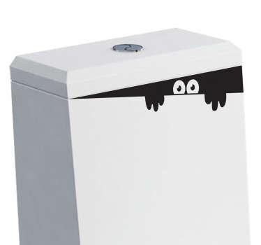 Sticker bagno mostro della tazza