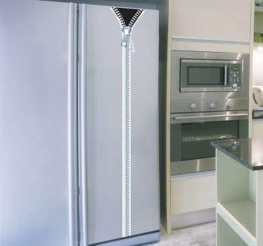 Reisverschluß Kühlschrank Aufkleber