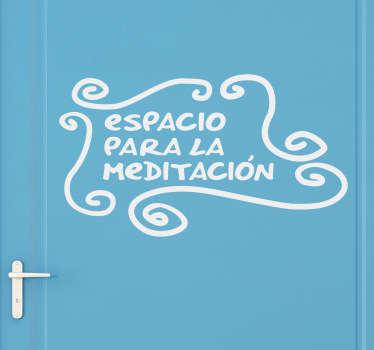 Vinilo lavabo espacio meditación