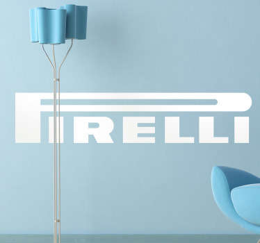 Adhesivo decorativo logo Pirelli