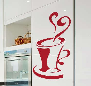 Kjøkken kopp vegg klistremerke
