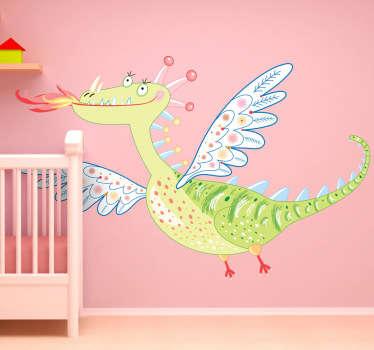 Adhesivo infantil bonito dragón