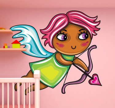 Pinkhaariger Engel Aufkleber
