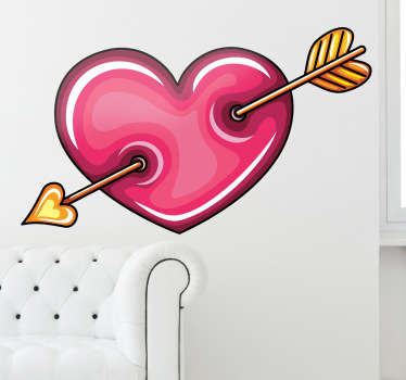 Sticker decorativo cuore di Cupido