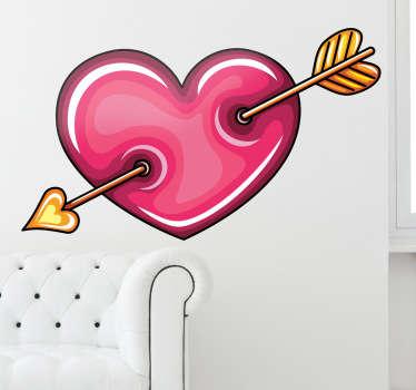 Sticker hartje liefde cupido