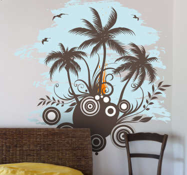Sticker decorativo isolotto tropicale