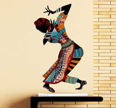 Exotic Lady Dancer Wall Sticker