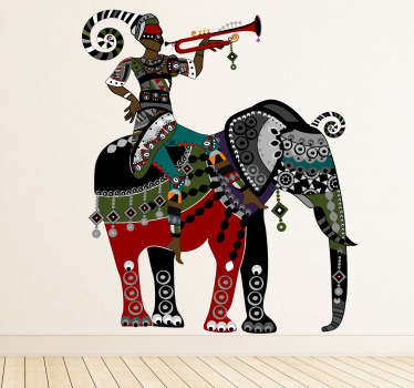 Elephant Trumpet Man Wall Sticker