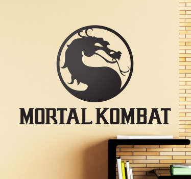 Adhesivo decorativo mortal kombat