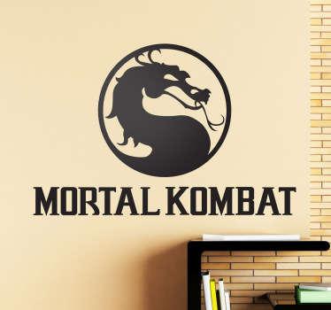 Sticker des bekannten Videospiels Mortal Kombat. Dekoidee für Gamer. Gestalte dein Wohnzimmer, Schlafzimmer, Arbeitszimmer und mehr