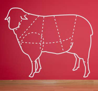 Sticker illustration parties mouton