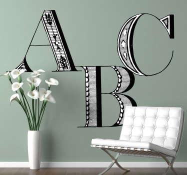 Klassieke ABC sticker